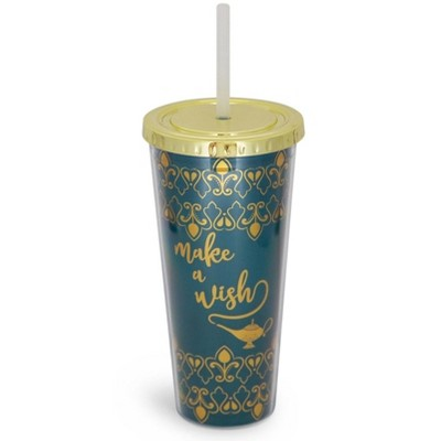 """Seven20 Disney Aladdin """"Make A Wish"""" Carnival Cup with Lid and Straw 