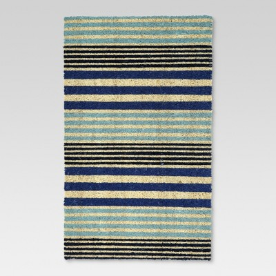 "23"" x 35"" Cool Stripe Doormat Blue - Threshold™"