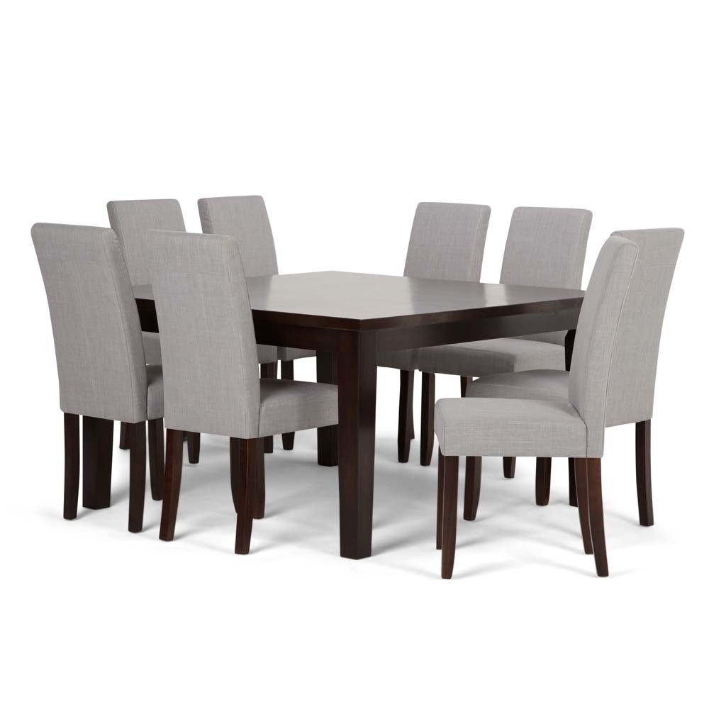 Normandy Solid Hardwood 9pc Dining Set Dove Gray - Wyndenhall