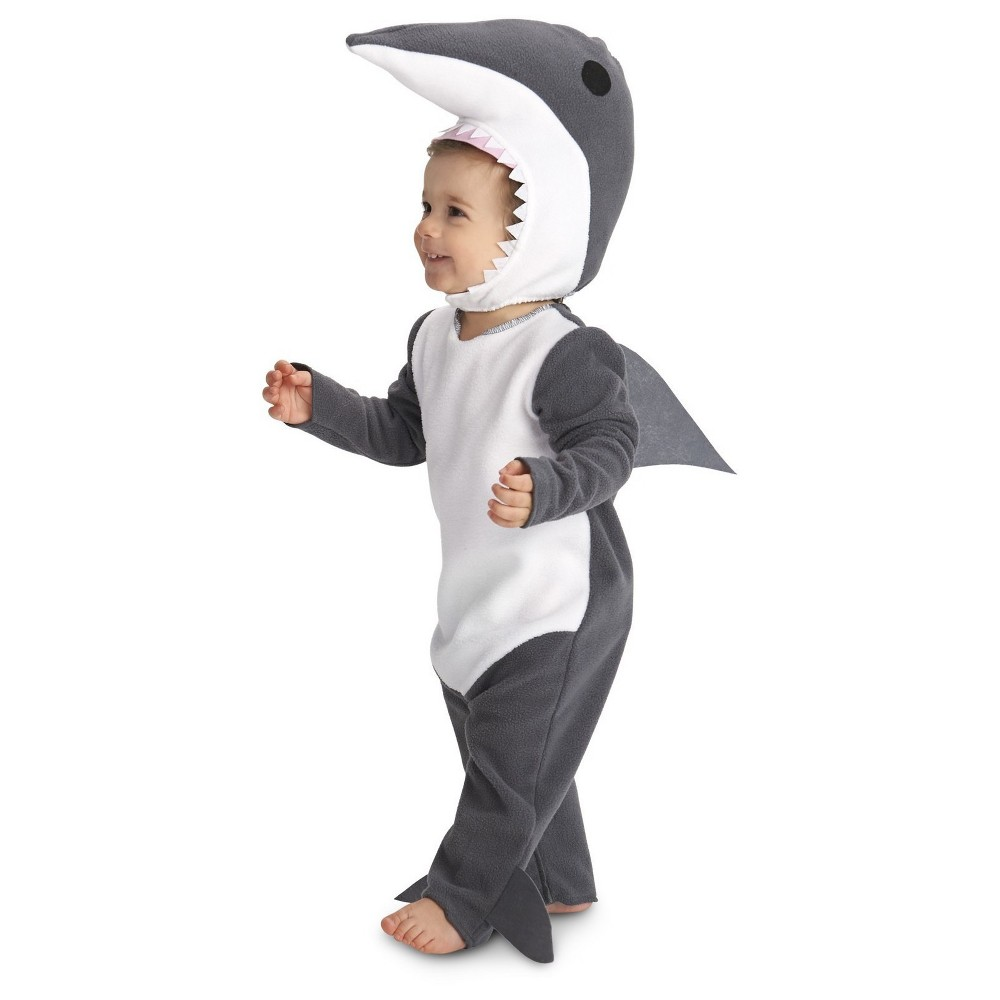 Toddlers' Sly Shark Costume Gray 2T-4T, Toddler Unisex