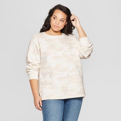 53e5531eeb5 Women's Plus Size Long Sleeve Tunic Sweatshirt - Universal Thread™ Green 4X  : Target