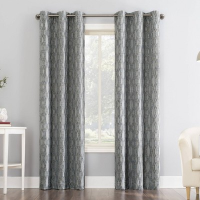 Houston Tonal Ikat Thermal Extreme 100% Blackout Grommet Curtain Panel - Sun Zero