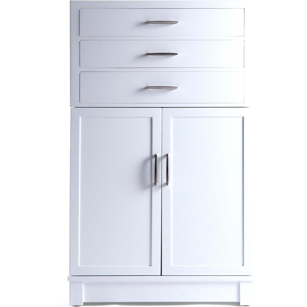 Harris Multi Functional Jewelry Storage Cabinet White - Hives & Honey