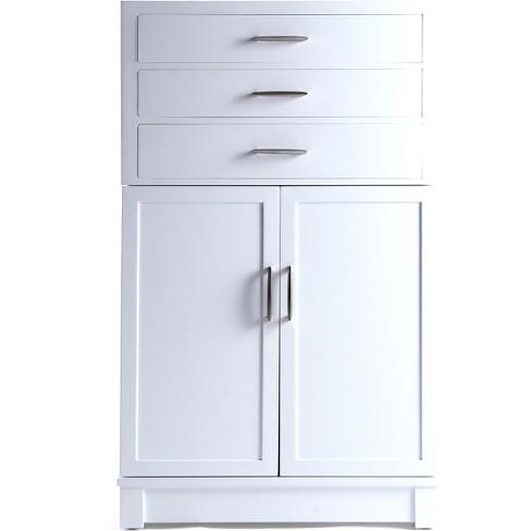 Harris Multi Functional Jewelry Storage Cabinet White - Hives & Honey - image 1 of 4