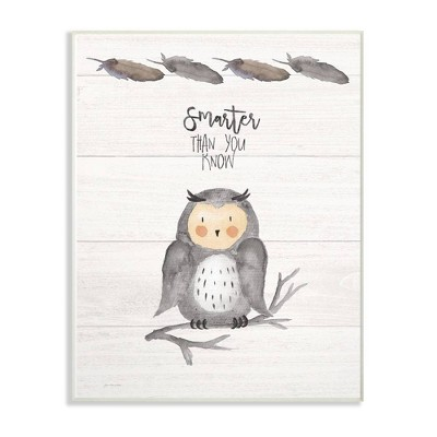 10 x0.5 x15  Smarter Than You Know Owl Wall Plaque Art - Stupell Industries