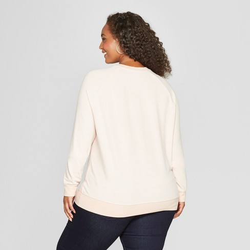 3a1caf2132 Women s Plus Size Cheers Graphic Pullover Sweatshirt - Grayson Threads  (Juniors ) Pink   Target