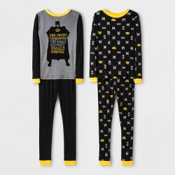 Boys' Batman 4pc Pajama Set - Black