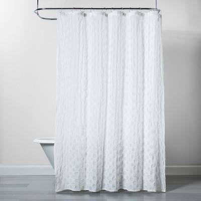 Dots Pattern Opaque Shower Curtain White - Project 62™
