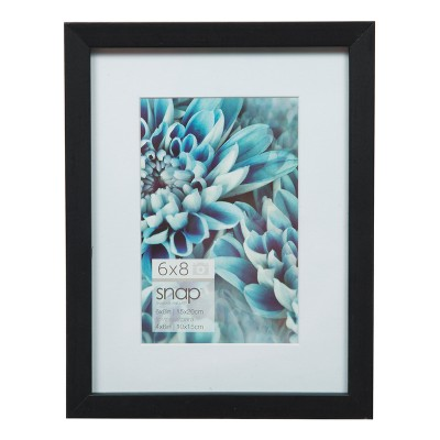 """Single Image 6"""" x 8"""" Matted To 4"""" x 6"""" Wood Frame Black - Gallery Solutions"""
