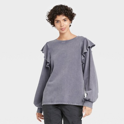 Women's Ruffle Sweatshirt - Universal Thread™