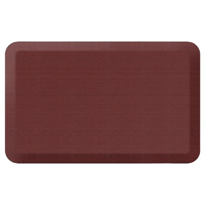 Newlife By Gelpro Designer Comfort Kitchen Mat - Grasscloth Crimson - 20X32