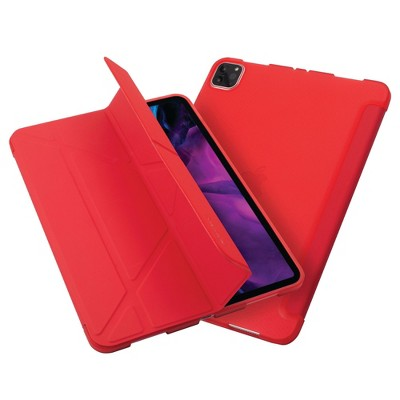 """Insten - Tablet Case for iPad Pro 11"""" 2020, Multifold Stand, Magnetic Cover Auto Sleep/Wake, Pencil Charging, Red"""