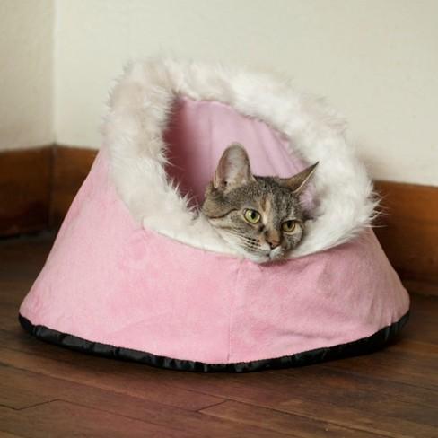 Petmaker Feline Cat Comfort Cavern Pet Bed - Pink - image 1 of 3