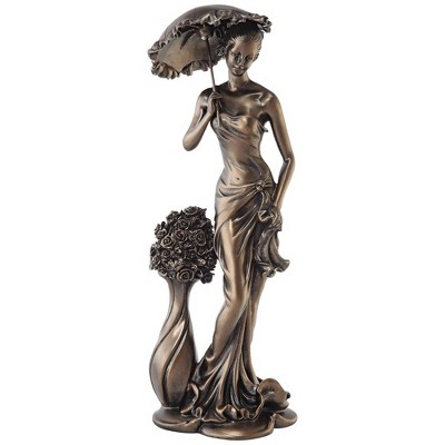 "Dahlia Studios Springtime Promenade Bronze Finish 14 3/4"" High Sculpture"