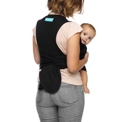 8fc952e42c3 Moby Adjustable Fit Wrap Baby Carrier - Black   Target