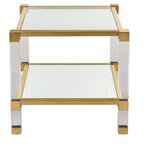 Angie Acrylic End Table - Safavieh - image 1 of 3