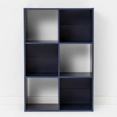 6 Cube Bookshelf Nighttime Blue - Room Essentials™