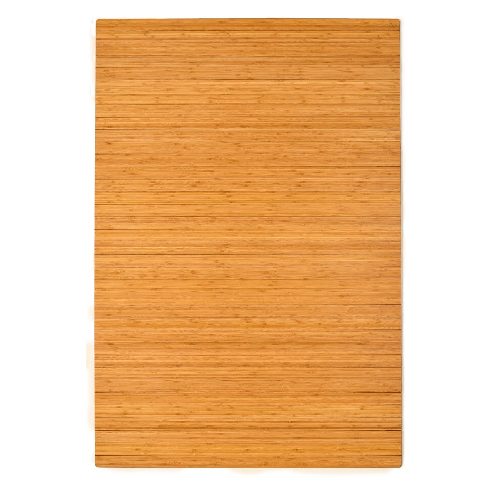 6'X4' Bamboo Roll-Up Chairmat With No Lip Neutral - Anji Mountain