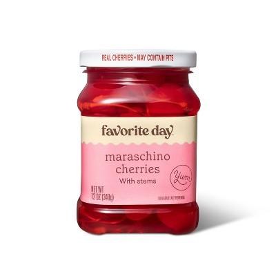 Maraschino Cherries with Stems - 12oz - Favorite Day™