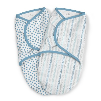 SwaddleMe Original Swaddle - Blue Dot Geo - 2pk - S/M