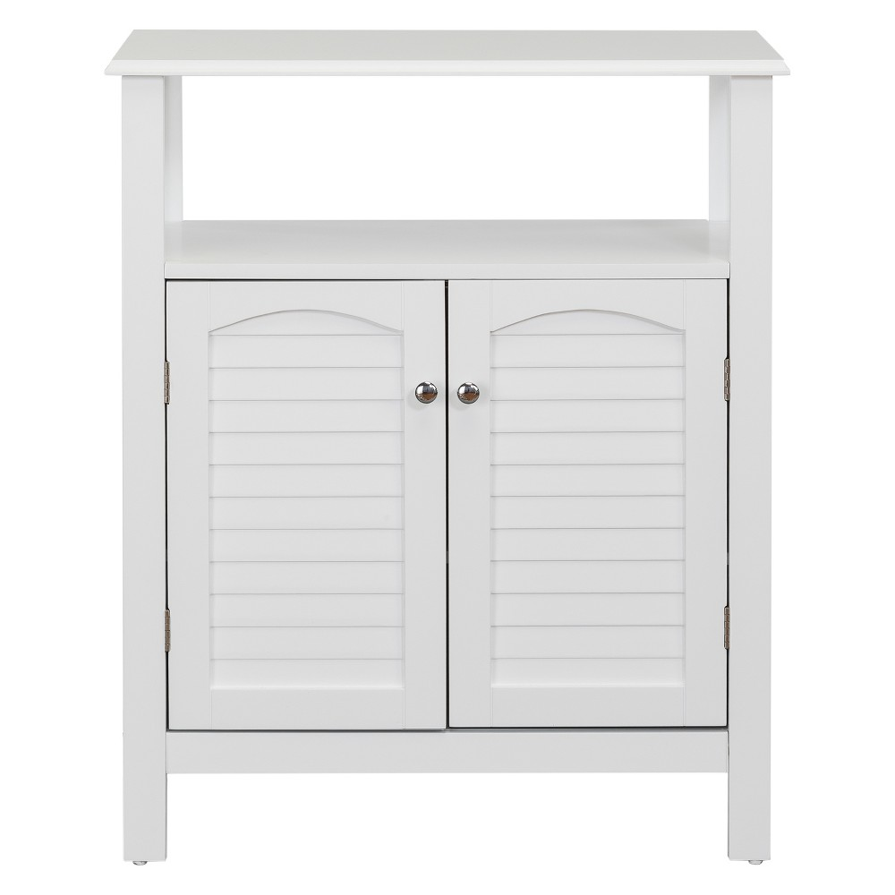 Image of Lombard Two Shutter Style Doors Bath Vanity Cabinet White - Elegant Home Fashions