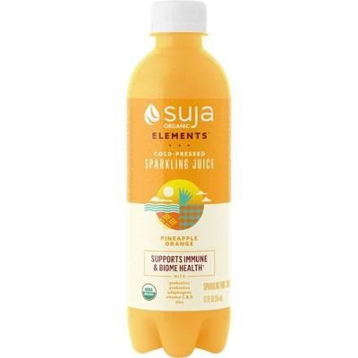 Suja Organic Sparkling Juice Pineapple Orange - 12 fl oz
