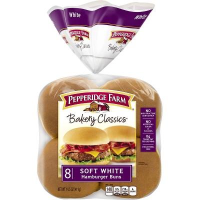 Pepperidge Farm Bakery Classics Soft White Hamburger Buns - 15oz/8ct