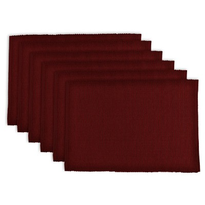 Black Berry Placemats (Set Of 6)- Design Imports