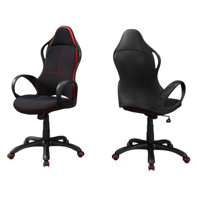 Office Chair Red Fabric Multi Position Black/Red - EveryRoom