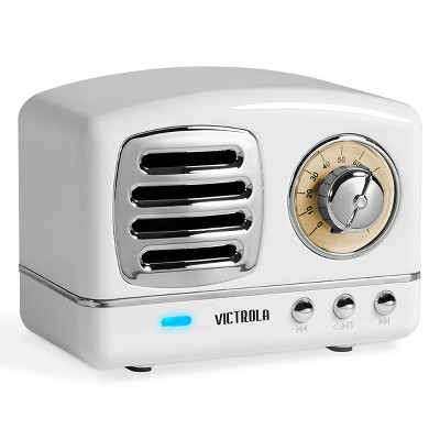 Victrola Lily Mini Bluetooth Stereo with FM Radio (White)