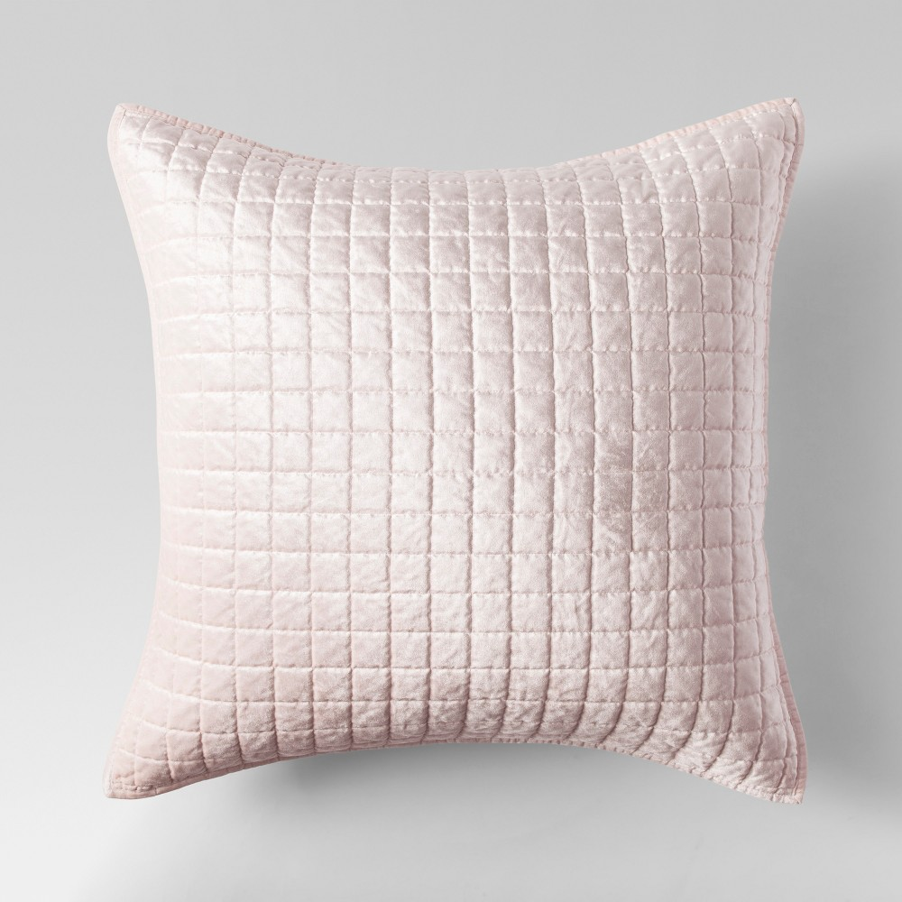 Blush Velvet Grid Stitch Sham (Euro) + Nate Berkus - Project 62
