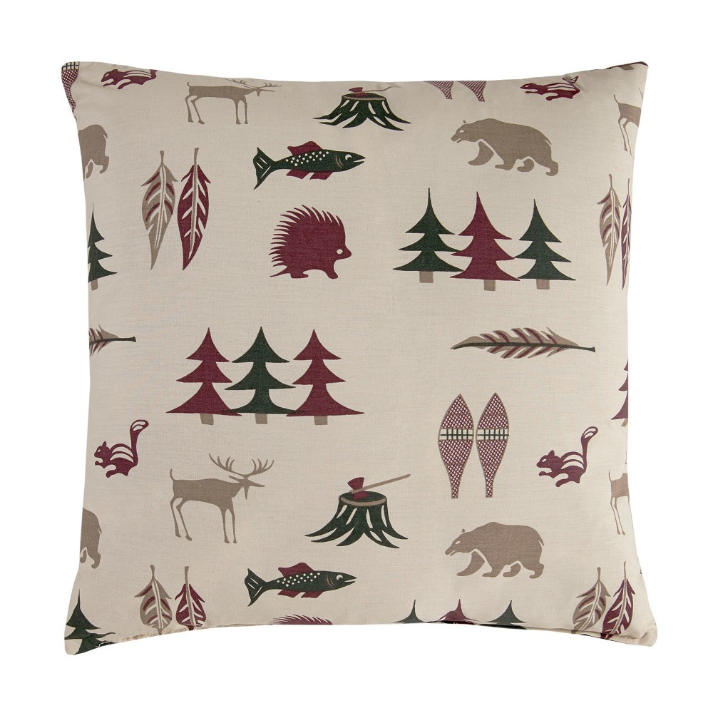 Image of Northern Exposure Pillow - Square - Stuffed - True Grit