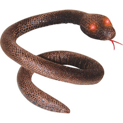 """40"""" Halloween Brown Snake with Light-Up Eyes"""