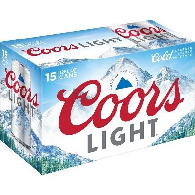 Coors Light Beer - 15pk/12 fl oz Cans