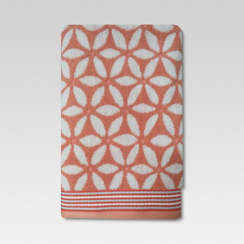 Floral Towels Coral - Threshold™ - image 1 of 2