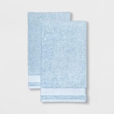 2pk Solid Bath Towel Aqua - Made By Design™