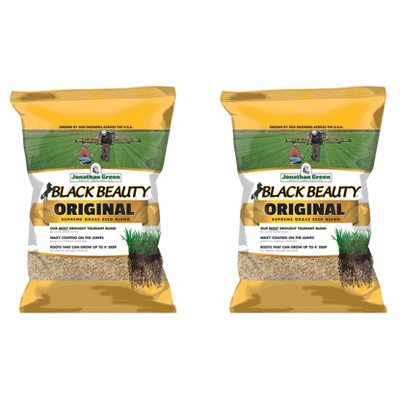Jonathan Green 10315 Drought Tolerant Black Beauty Original Grass Seed Mix for Partial Shade Clay Soil Covers Up To 7,500 Square Feet, 25 lbs (2 Pack)