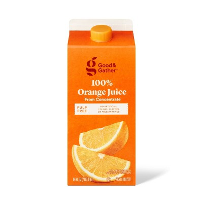 Pulp Free 100% Orange Juice From Concentrate - 64 fl oz - Good & Gather™