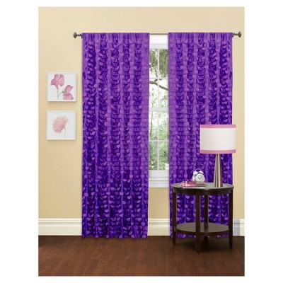"84""x50"" Gigi Window Curtain Purple - Lush Décor"