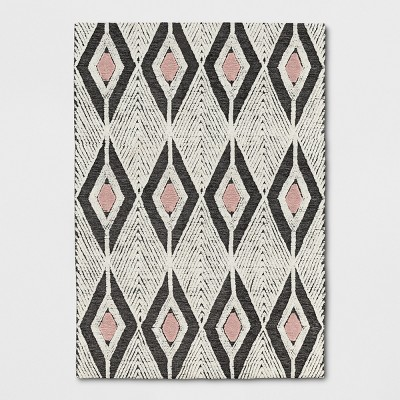 7'X10' Diamond Tufted Area Rug Off-White - Project 62™