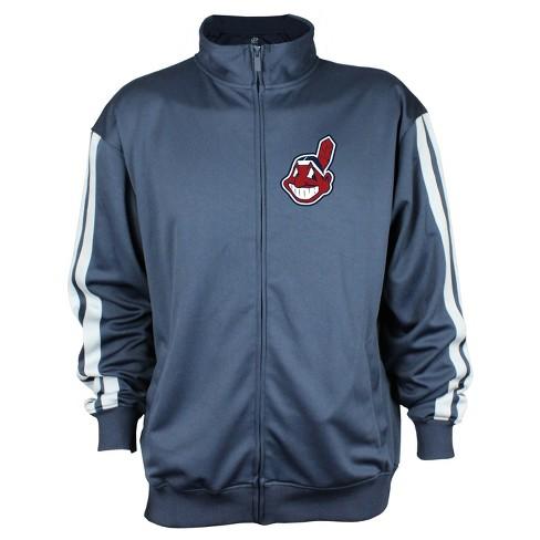 Cleveland Indians Men's Zip-Up Track Jacket - XXL - image 1 of 2