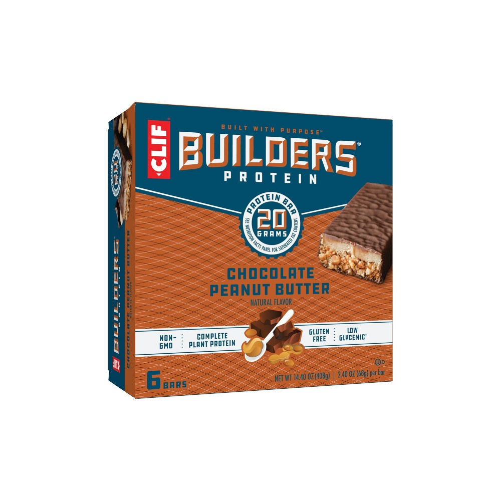 Clif Builders Protein Bars Chocolate Peanut Butter 20g Protein 6ct