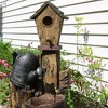 "31""H Polyresin Rustic Birdhouse and Garden Watering Can Outdoor Water Fountain - Sunnydaze Decor - image 2 of 4"
