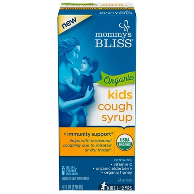 Mommy's Bliss Kids Organic Cough Relief Liquid - Elderberry - 4 fl oz