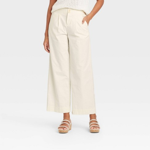 Women's High-Rise Pleat Front Wide Leg Trousers - A New Day™ - image 1 of 3