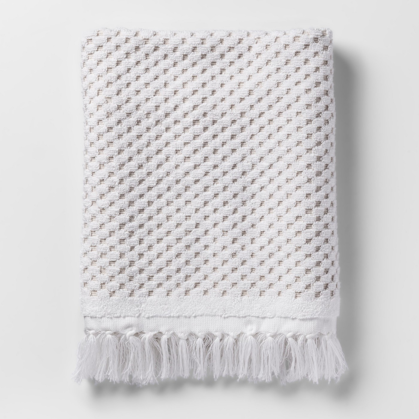 Knotted Fringe Bath Towels White - Threshold™ - image 1 of 1