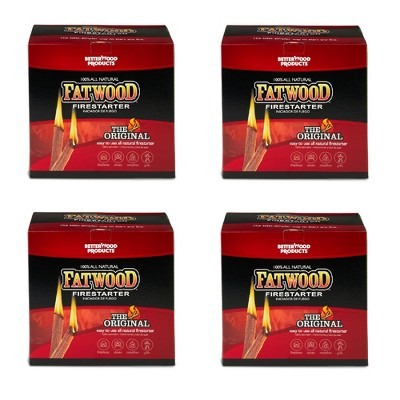 Betterwood Products 9910 Fatwood 10-Pound Natural Wood Firestarter (4 Pack)
