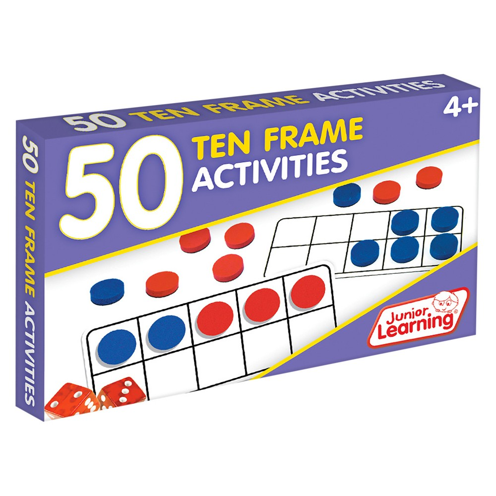 Junior Learning 50 Ten Frame Activities Learning Set