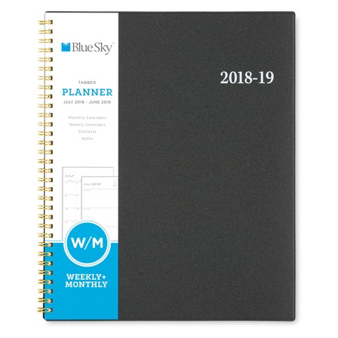 2018 - 2019 Spiral Planners Blue Sky - Black - image 1 of 5