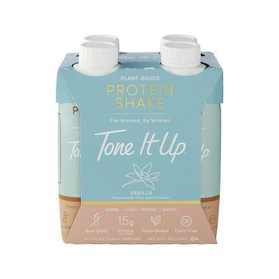 Tone It Up Plant-Based Protein Shake - Vanilla - 11 fl oz/4pk